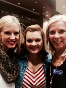 My mom (at right) and I (at left) were thrilled to meet the courageous Abby Johnson in person.